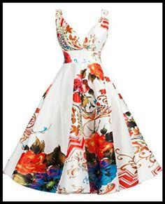 Printed Floral Cocktail Dress