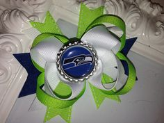Seattle Seahawks Boutique Bow