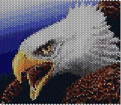 eagle Native Beading Patterns, Beadwork Designs, Seed Bead Patterns, Native Beadwork, Beaded Banners, Peyote Stitch Patterns, Beads Pictures, Peyote Beading, Native American Beading