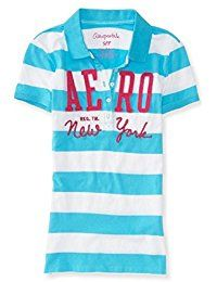 New Aeropostale Women's Polo Shirt Aero NY Graphic Striped X-Small Pink online. Find the perfect Asher's Apparel Tops-Tees from top store. Sku PHKS69630KKVN61373