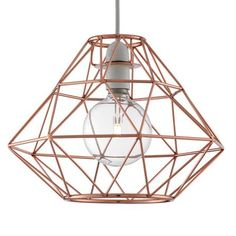 Distinctly designed in a modern style, this copper pendant will instantly update your living space with its unique appearance.