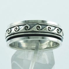 TENSION REMOVER !! 925 STERLING SILVER SPINNER RING IN 9 US #SilvexImagesIndiaPvtLtd #Spinner