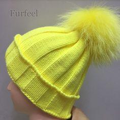 2016 kids Winter Hat 100% Real Raccoon Fur pom pom Ball Baby Beanies Cap Crochet Knitted Hats For Girls Boys