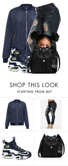 """""""❄️☃"""" by jaziscomplex ❤ liked on Polyvore featuring NIKE, MICHAEL Michael Kors, women's clothing, women, female, woman, misses and juniors"""