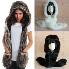 Style Winter Russian Cossack Style Faux Fur Hat Scarf Ski Headband Earwarmer #Unbranded #winter