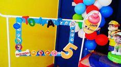 Festa Patrulha Pata do Tomás fez 5 anos.