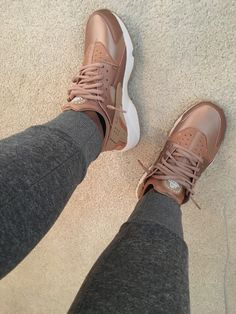 Rose Gold Nike Huaraches