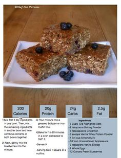 Gluten Free Oatmeal Protein Bars with berries - bake them for 15-20 minutes