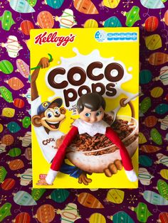 I'm a cereal killer! If you don't start making a change to your psycho killer behaviour I'm calling Santa and sending you back to the North Pole early! The Elf, Elf On The Shelf, Cereal Killer, 15 December, Make A Change, North Pole, Santa, Kids, Young Children