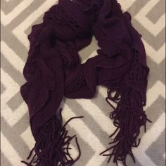 "Maroon Cozy Scarf Maurice's maroon cozy scarf. Stretchy and super soft!! Approximately 80"" long! Keeps you warm and looking great! I love wearing this with a peacoat. Super cute! Worn, but in great condition! No trades please! 🙅🏻 let me know if you have questions ❓ and make me an offer!! 💵 happy shopping! 💖  All items from a smoke free home! Maurices Accessories Scarves & Wraps"