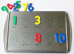 Make your own magnetic number puzzle to work on number recognition, counting, and other skills. So smart!