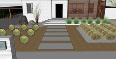 walkways ideas for mid century homes to the front door | landscaping disaster post mid-century modern remodel
