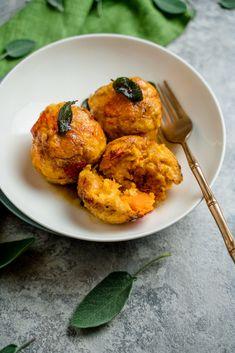 Pumpkin dumplings with sage butter – kuechenchaotin.de Pumpkin dumplings with sage butter – kuechenchaotin.