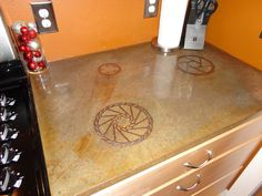 Concrete Countertop Inlay Idea Concrete Countertops