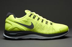 Nike Lunarglide (+) 4 - Mens Running Shoes - Volt-Reflective Silver-Anthracite-Pure Platinum