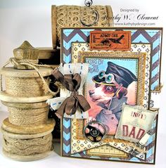 Great Father's Day Card by kathybydesign using Crafty Secrets New Father Digital Download. Also several other cool card ideas for Dad!