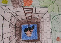 "Art in the Middle...school: ""Stuck in a Hole"" - this is a great twist for teaching perspective!"