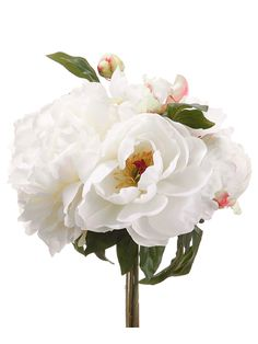 Silk Peony Wedding Bouquet in Cream | Wedding Flowers