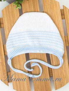 Вязаная шапочка из хлопка Журавлик в интернет магазине для новорожденных