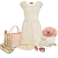 """""""Girly Girl"""" by michellesweet74 on Polyvore--I could do without the bear and the hat..."""