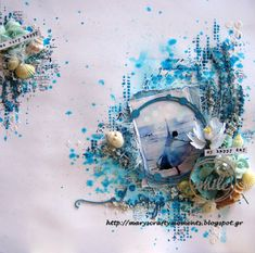 July Inspiration - A Layout and a Canvas PLUS TWO VIDEO TUTORIALSBy Mary Catt