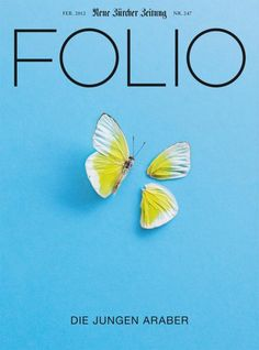 Folio (Switzerland) magazine cover with butterfly.