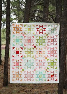 PDF quilt pattern to create the Shine quilt. Quilt measures 60 x 74 and is fat quarter friendly.