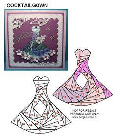 Coctail Dress Iris Fold