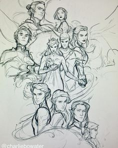 Holy montages batman! Now to just clean the entire thing up and then colour it ... yeah! #ACOWAR…