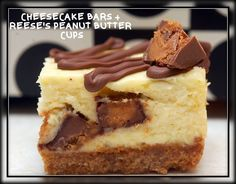 Peanut Butter Cup Cheesecake Bars - Hugs and Cookies XOXO