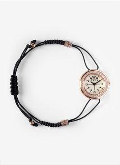 Marco MavillaCrystal-embellished back skull bracelet watch
