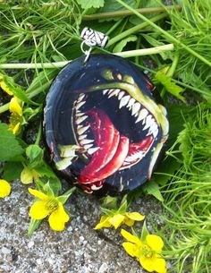 Pendant necklace glass pendant pendant frog League by WishYouLove