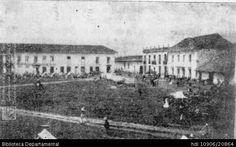 Biblioteca Departamental Jorge Garces Borrero y JORGE TASCON. Costado Nordeste de la Plaza de Palmira, 1954 y 102920. PALMIRA: Biblioteca Departamental Jorge Garces Borrero, 1954. 15X10.