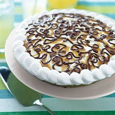 Ice Cream Sundae Pie Recipe.  I made this for our camping trip. Used Haagen Dazs vanilla. Fits perfectly into an Airstream freezer.  Yummy!  Kids are begging for me to make again!!!