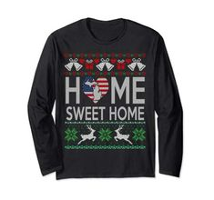 Long Tee, Graphic Sweatshirt, T Shirt, Home Gifts, Being Ugly, Christmas Sweaters, Sweet Home, Deal Today, Amazon
