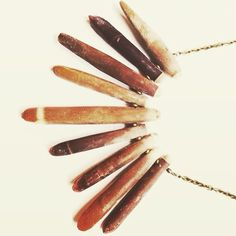 // by grace // stunning sea arrow shell collar on custom length brass chain  #oveco #otravez #otravezecotique #ov_eco