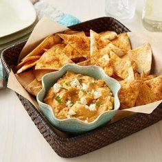 Taco Hummus and Tortilla Chips