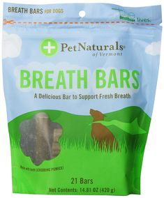 Pet Naturals of Vermont Breath Bars * Continue to the product at the image link. (This is an affiliate link and I receive a commission for the sales) Dog Dental Chews, Pet Supplements, Dog Snacks, Dental Care, Vermont, Counting, Dog Food Recipes, Healthy Life, Your Pet