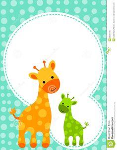 jirafas bebes para baby shower de niña - Buscar con Google