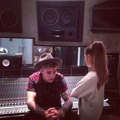 Justin Bieber and Ariana Grande record a duet! Ariana is so much better than him!