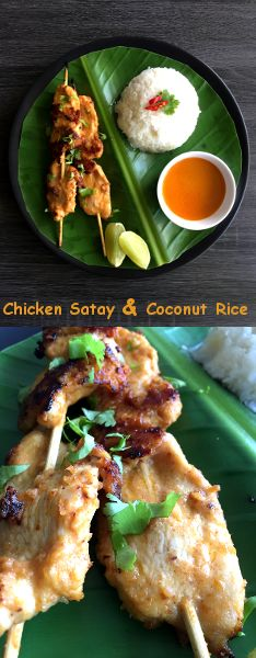 Thai Chicken Satay with Coconut Rice