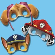 Máscaras de las mascotas de Patrulla Pata