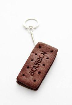 Bourbon Biscuit Keyring