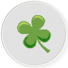 FREE Clover Cross Stitch Pattern