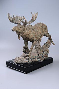 Wild Moose Figurine By Comfy Hour Comfy Hour http://www.amazon.com/dp/B00YIHCCKM/ref=cm_sw_r_pi_dp_IFw2wb076BBM2