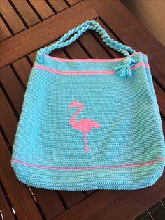 Market bag with Flamingo