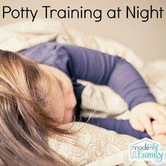 potty training at night - great tips!