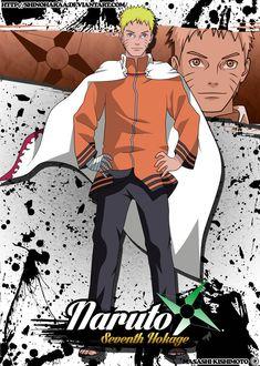 Naruto seventh hokage Anime Naruto, Naruto Shippuden Sasuke, Kakashi Sensei, Naruto Art, Gaara, Naruto Clothing, Naruto Mobile, Super Anime, Naruto The Movie