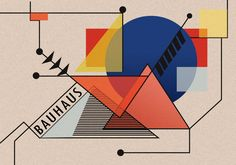 one style bauhaus art in the form of vector design