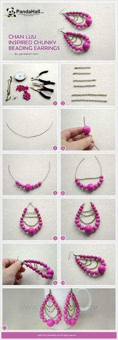 Jewelry Making Tutorial of DIY Chan Luu Inspired Chunky Beading Earrings